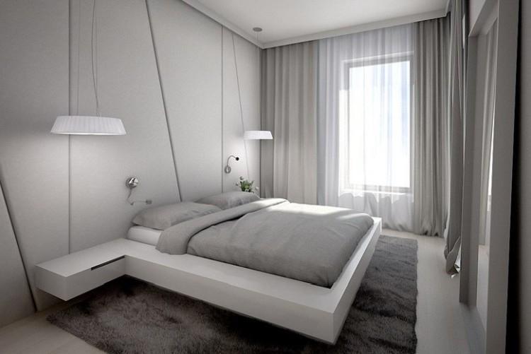 Спальня в стиле хай-тек - Дизайн интерьера фото