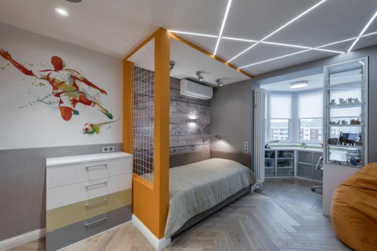 Детская комната в стиле хай-тек - Дизайн интерьера фото