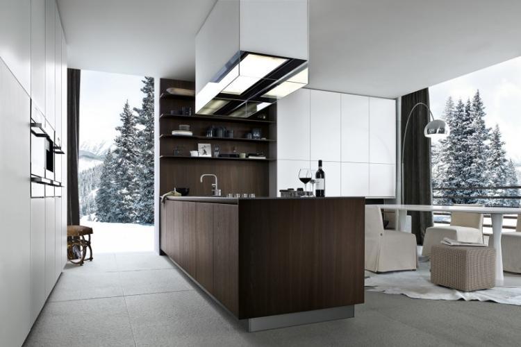 Кухня в стиле хай-тек - Дизайн интерьера фото