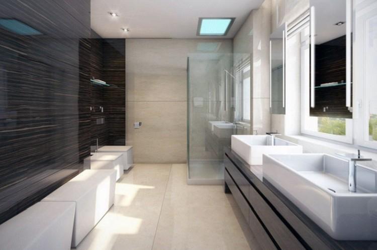 Ванная комната в стиле хай-тек - Дизайн интерьера фото