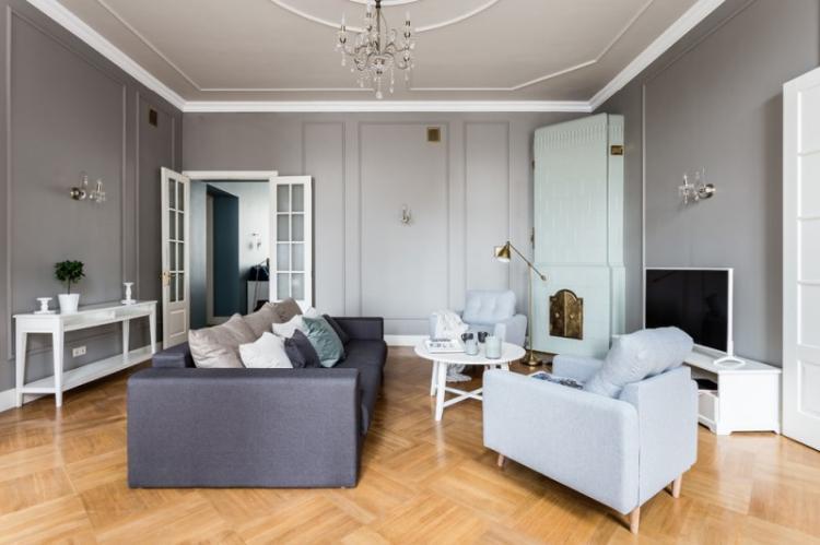 Гостиная в стиле неоклассика - дизайн интерьера фото