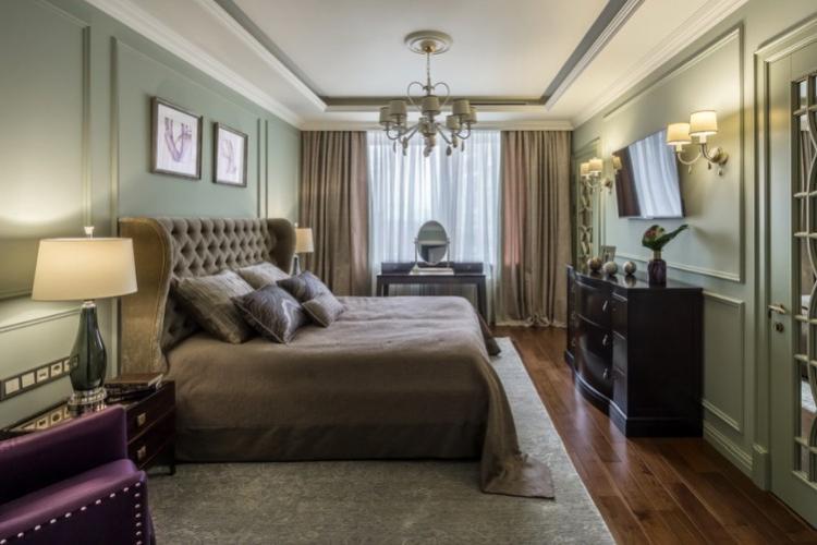 Спальня в стиле неоклассика - дизайн интерьера фото