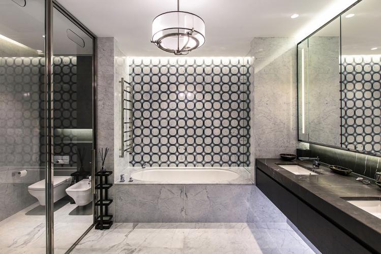 Ванная комната в стиле неоклассика - дизайн интерьера фото