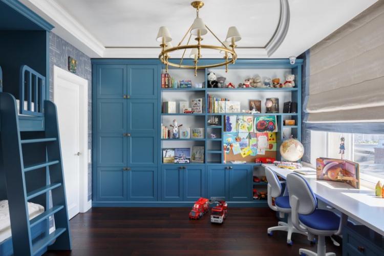 Детская комната в стиле неоклассика - дизайн интерьера фото