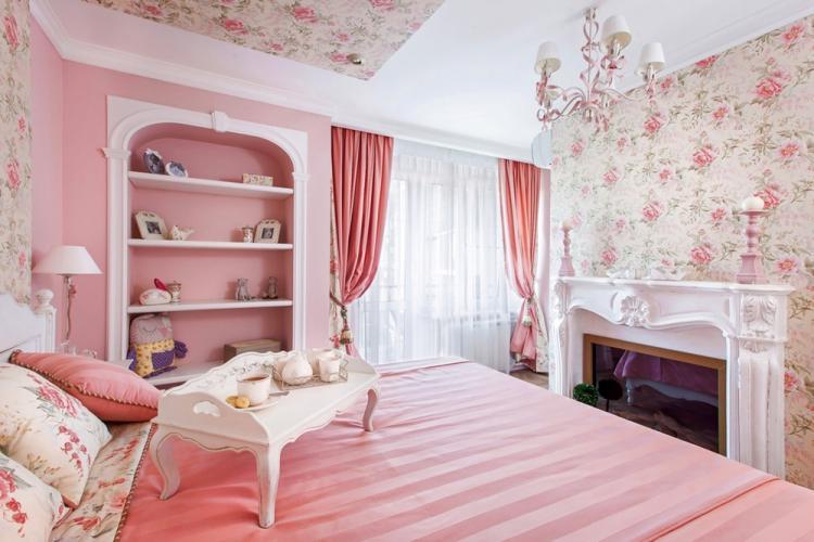 Розовый цвет - Стиль прованс в интерьере