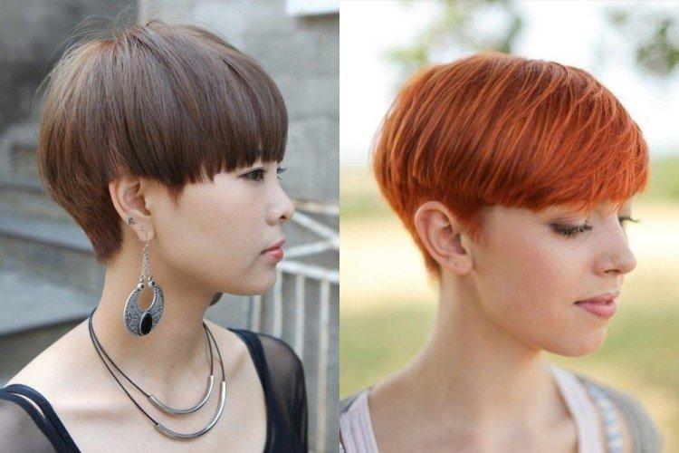 Плавный переход - Стрижка шапочка на короткие волосы