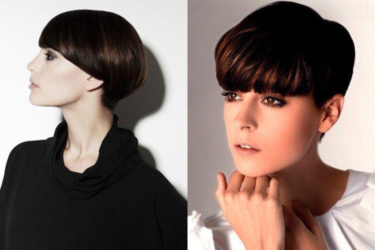 Геометрия - Стрижка шапочка на короткие волосы
