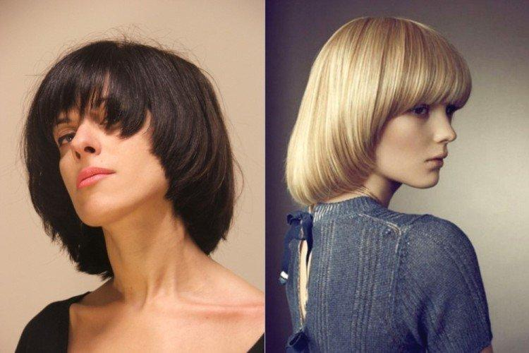 Паж - Стрижки на средние волосы придающие объем
