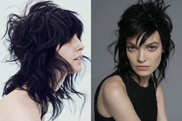 Удлиненный гаврош - Стрижки на средние волосы придающие объем