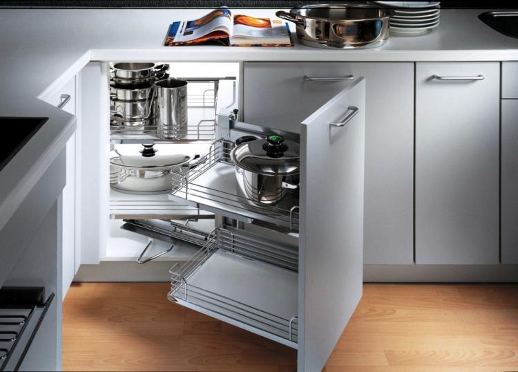 Угловые системы хранения - Угловые кухни