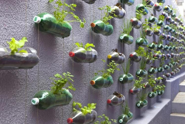 Пластиковые бутылки - Декоративные украшения для сада своими руками