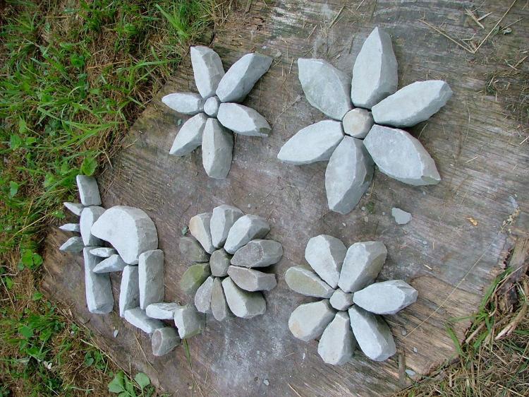 Камни и песок - Декоративные украшения для сада своими руками