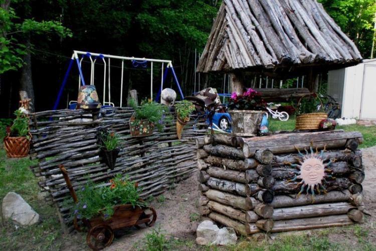 Украшения для сада своими руками - фото