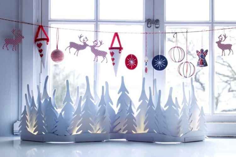 Украшения на окна к Новому году: красивые идеи (50 фото)