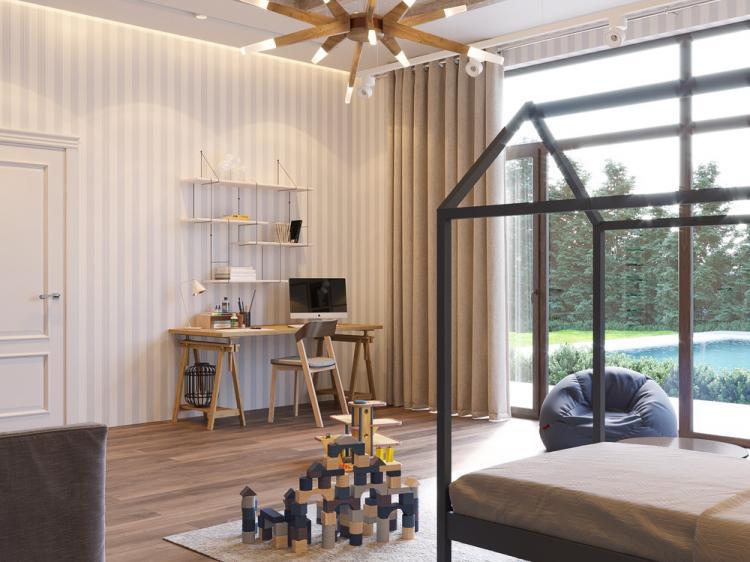 «В центре внимания»: Детская комната для мальчика - дизайн интерьера