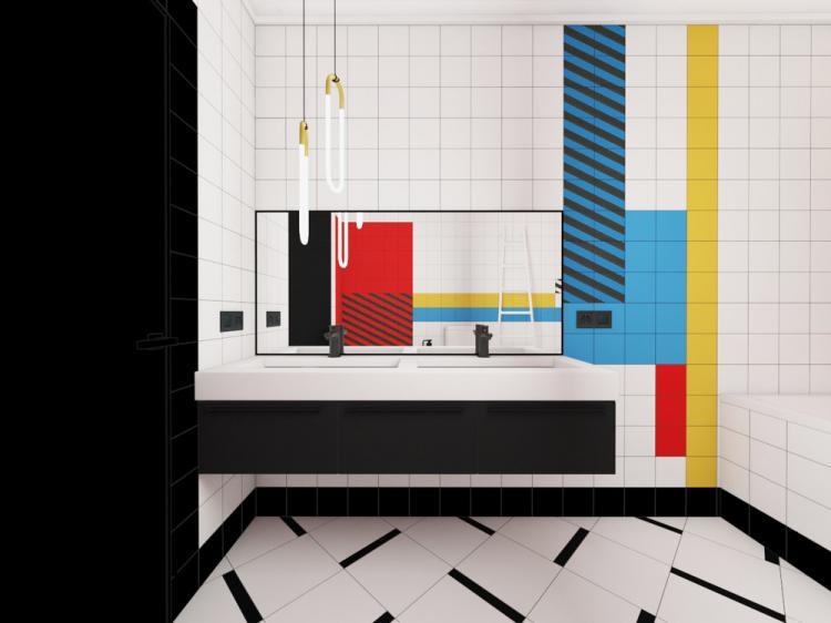 Ванная комната «Suprematism» - дизайн интерьера