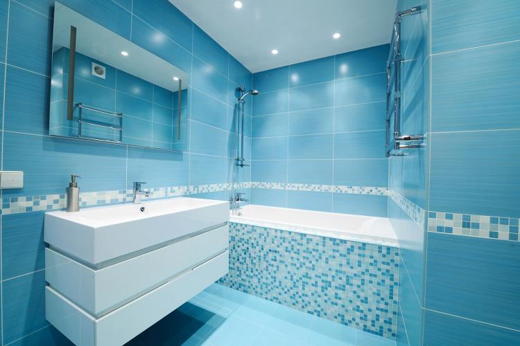 Отделка пола - Дизайн ванной комнаты в хрущевке