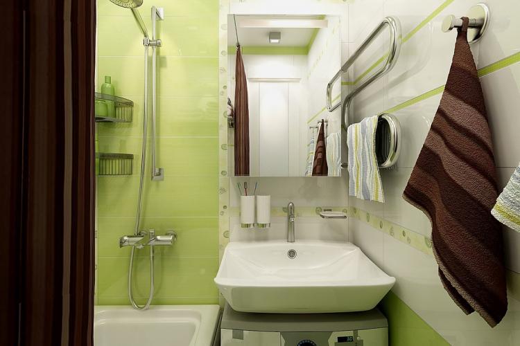 Раковина - Дизайн ванной комнаты в хрущевке