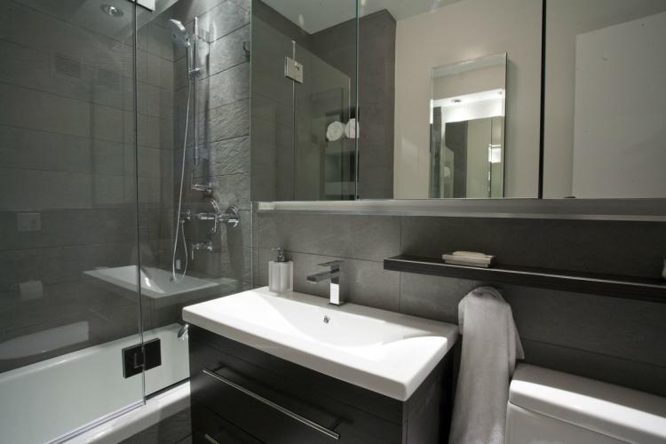 Ванная комната в хрущевке в современном стиле - Дизайн интерьера