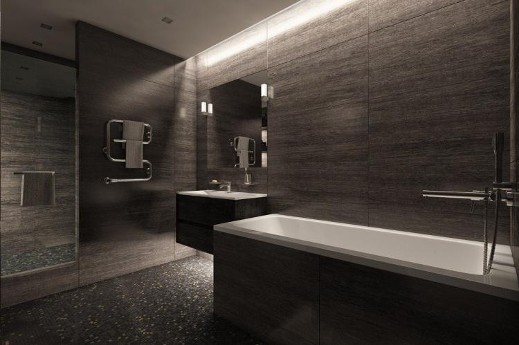 Черная ванная комната в современном стиле - Дизайн интерьера