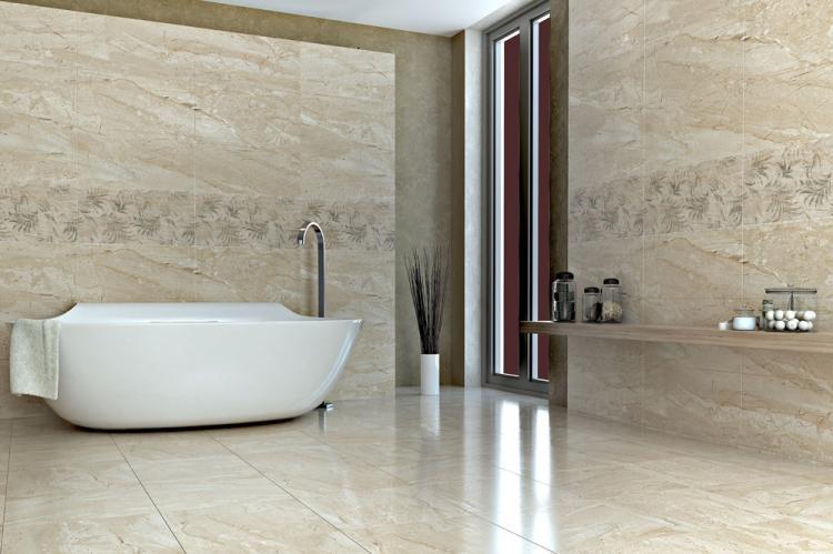 Отделка пола - Дизайн ванной комнаты в современном стиле