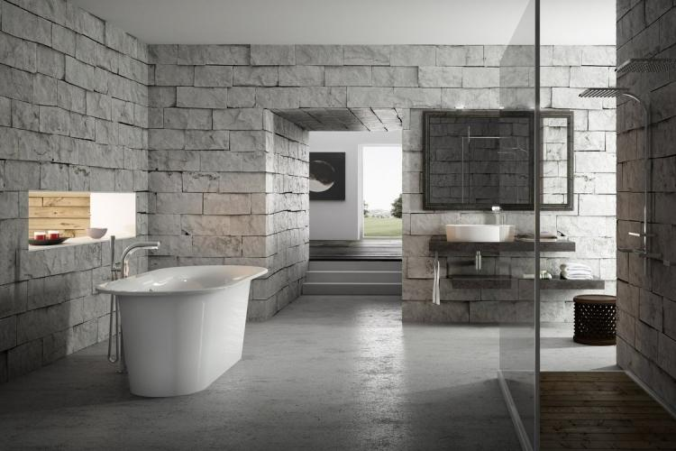 Отделка стен - Дизайн ванной комнаты в современном стиле