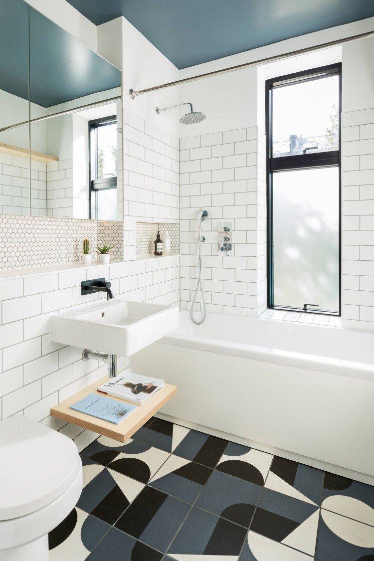 Дизайн потолка - Дизайн ванной комнаты в скандинавском стиле