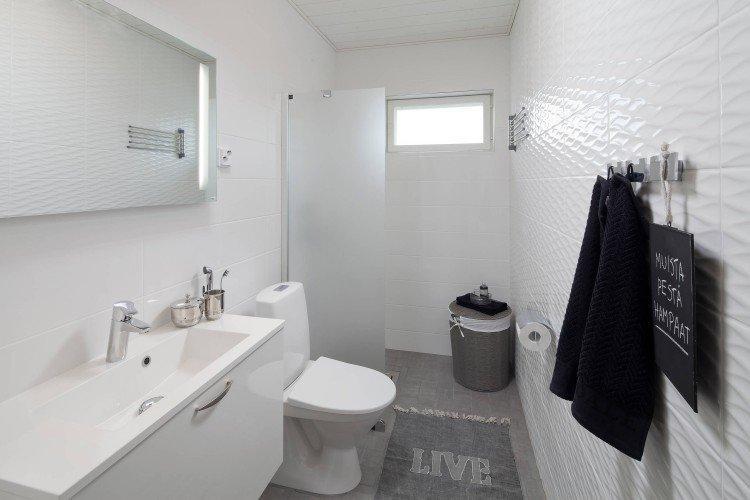 Увеличиваем пространство - Дизайн маленькой ванной комнаты в скандинавском стиле