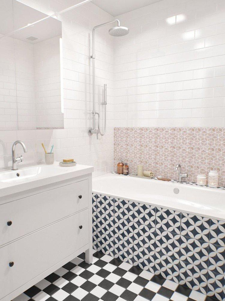 Дизайн ванной комнаты в скандинавском стиле - фото