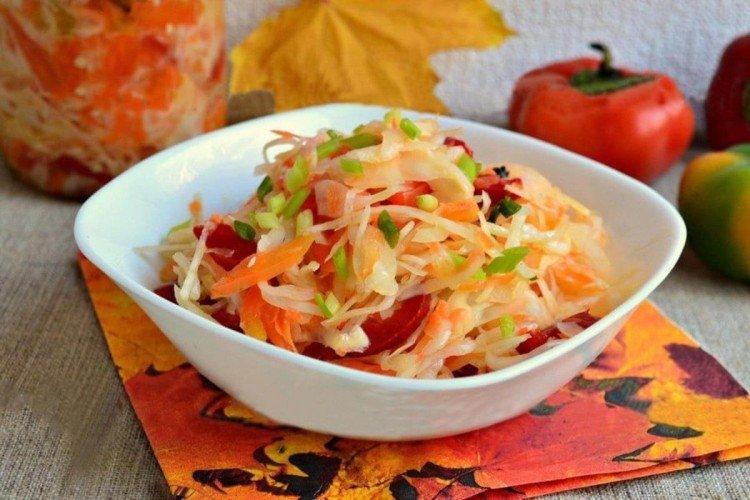 Цветной салат с капустой - Вкусные и дешевые рецепты блюд