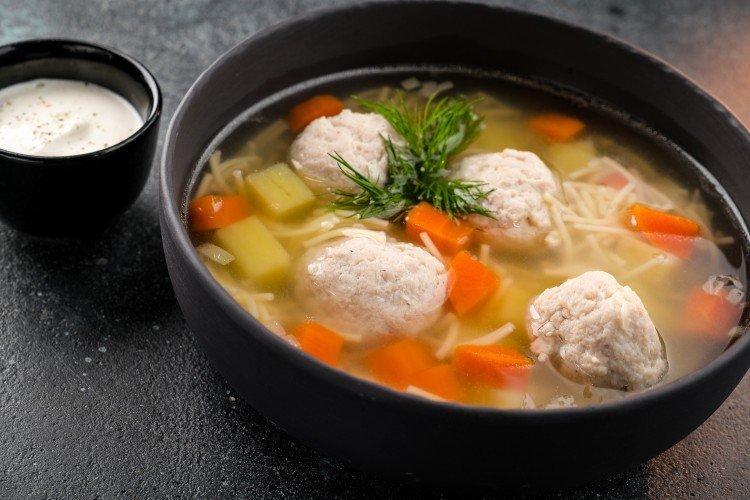 Суп с фрикадельками и вермишелью - Вкусные и дешевые рецепты блюд