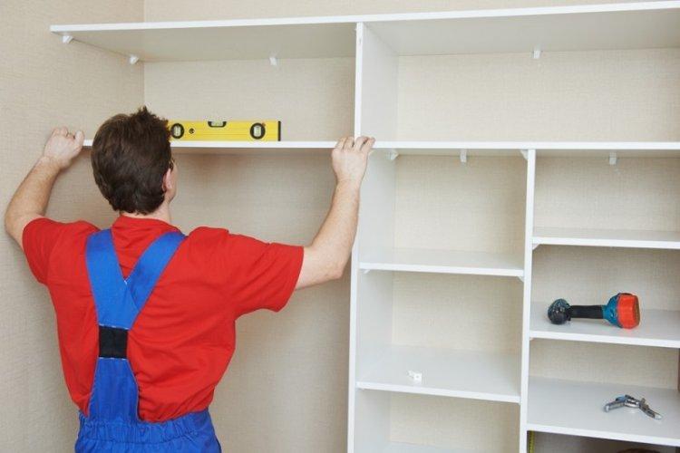Крепление полок - Встроенный шкаф-купе своими руками