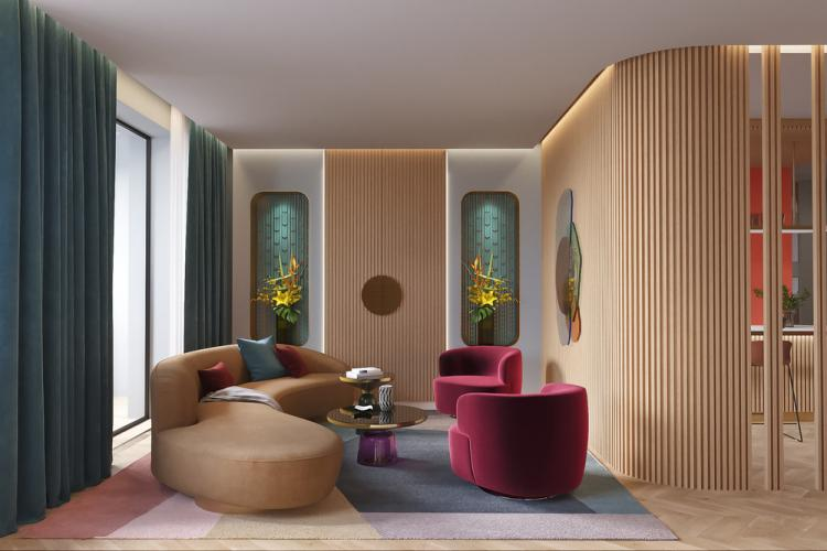Дизайн яркой квартиры для молодой семьи