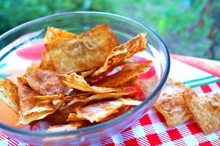 Чипсы из лаваша - Закуски из лаваша рецепты
