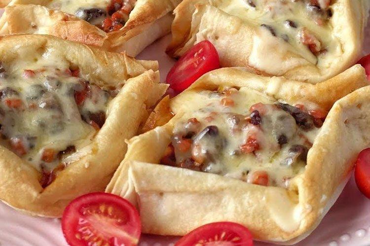 Закуска из лаваша Лодочки - рецепты