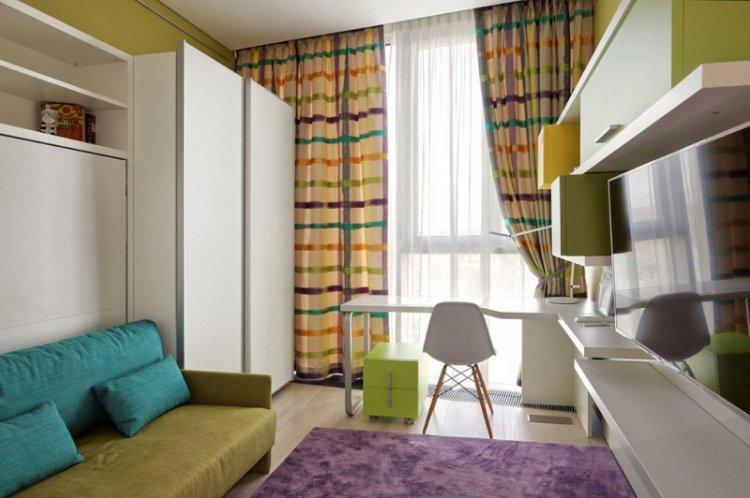 Зеленый с фиолетовым - Сочетание цветов в интерьере