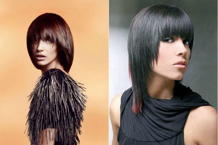 Удлиненный сессон с челкой - Модные женские стрижки 2020 на средние волосы