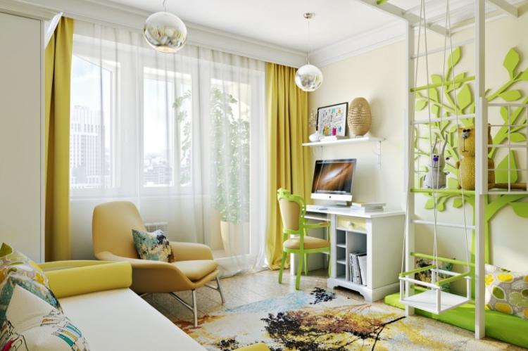 Отделка и материалы - Как зонировать комнату для родителей и ребенка