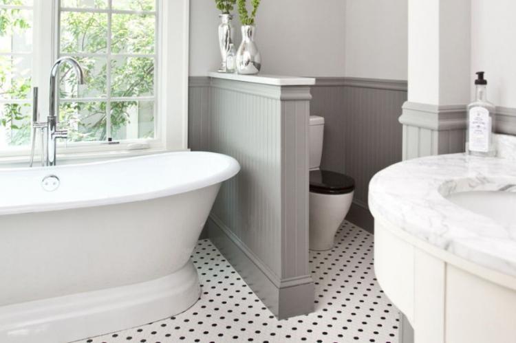 Зонирование ванной комнаты и туалета