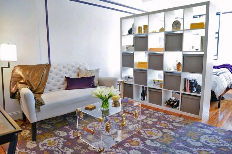 Зонирование комнат в квартире - фото