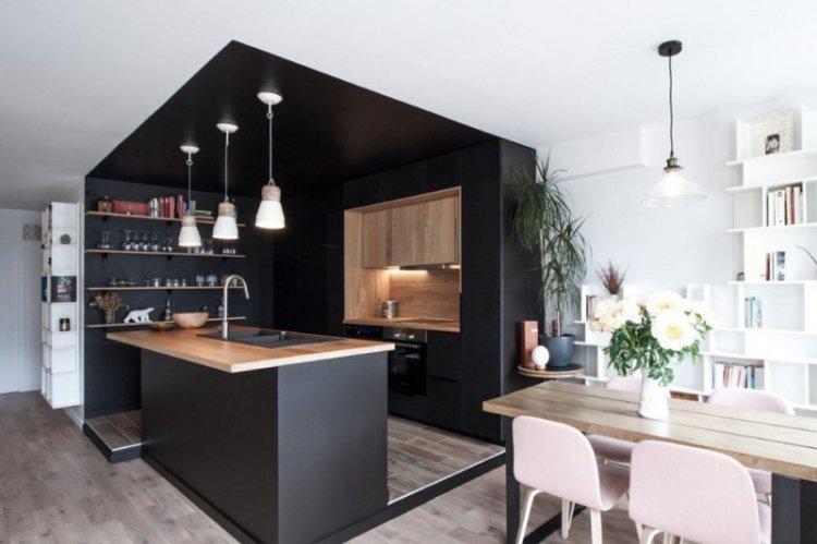 Подиум - Способы зонирования кухни и гостиной