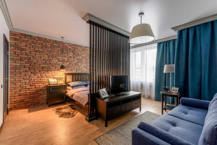 Статичные перегородки - Способы зонирования однокомнатной квартиры