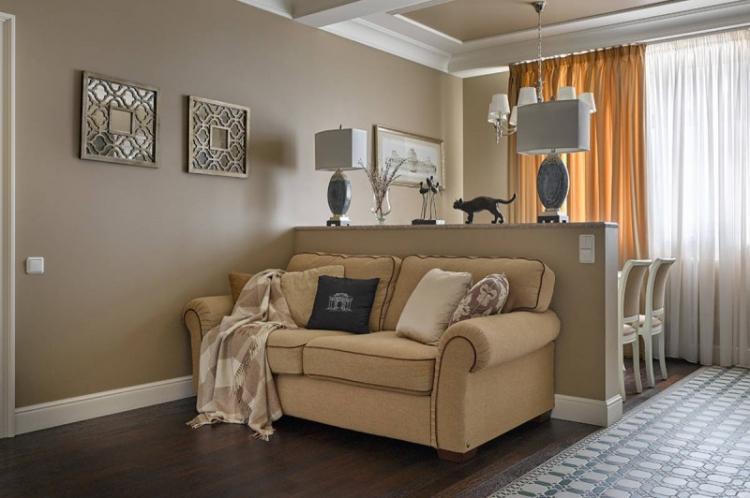 Декоративные конструкции - Способы зонирования однокомнатной квартиры