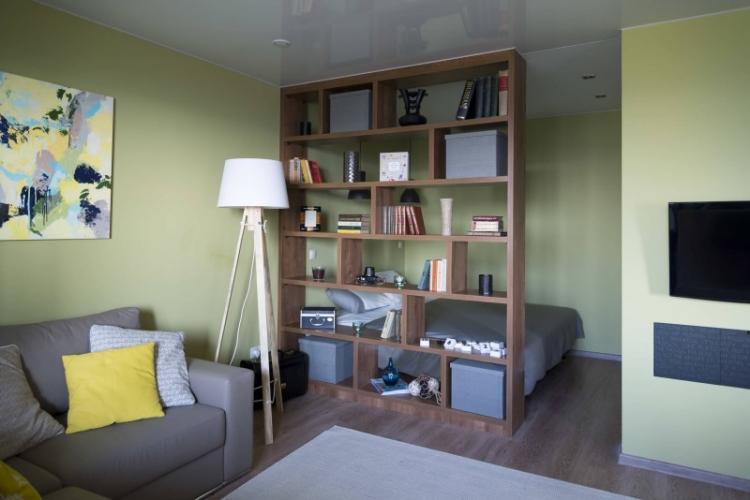 Спальня и гостиная - Зонирование однокомнатной квартиры