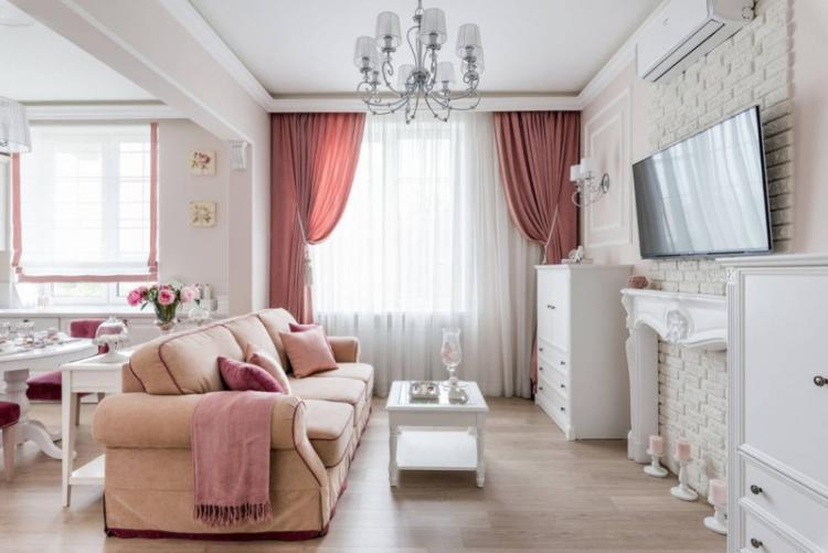 Гостиная и кухня - Зонирование однокомнатной квартиры