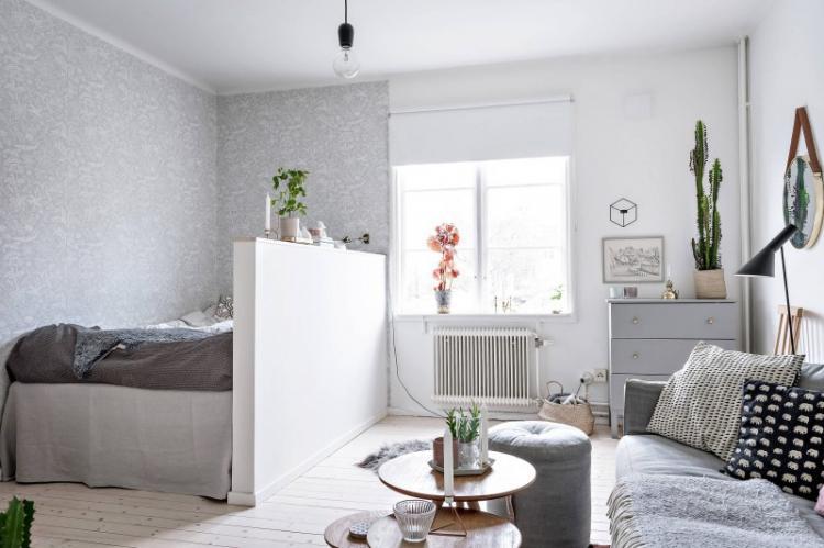 Зонирование однокомнатной квартиры - фото, идеи и способы