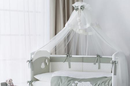 Балдахин на детскую кроватку (65 фото): виды, как сшить