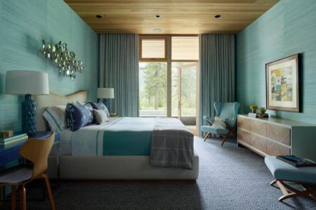 Бирюзовая спальня: 70 свежих идей дизайна (фото)