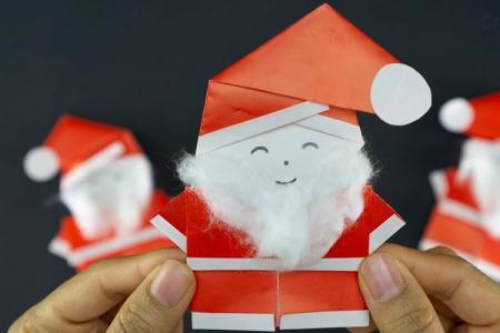 Дед Мороз из бумаги: 10 простых и красивых идей своими руками