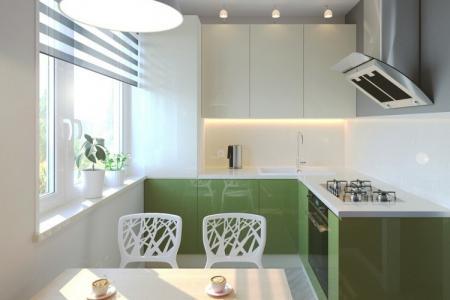 Как оформить дизайн кухни 7 кв.м. (80 фото)